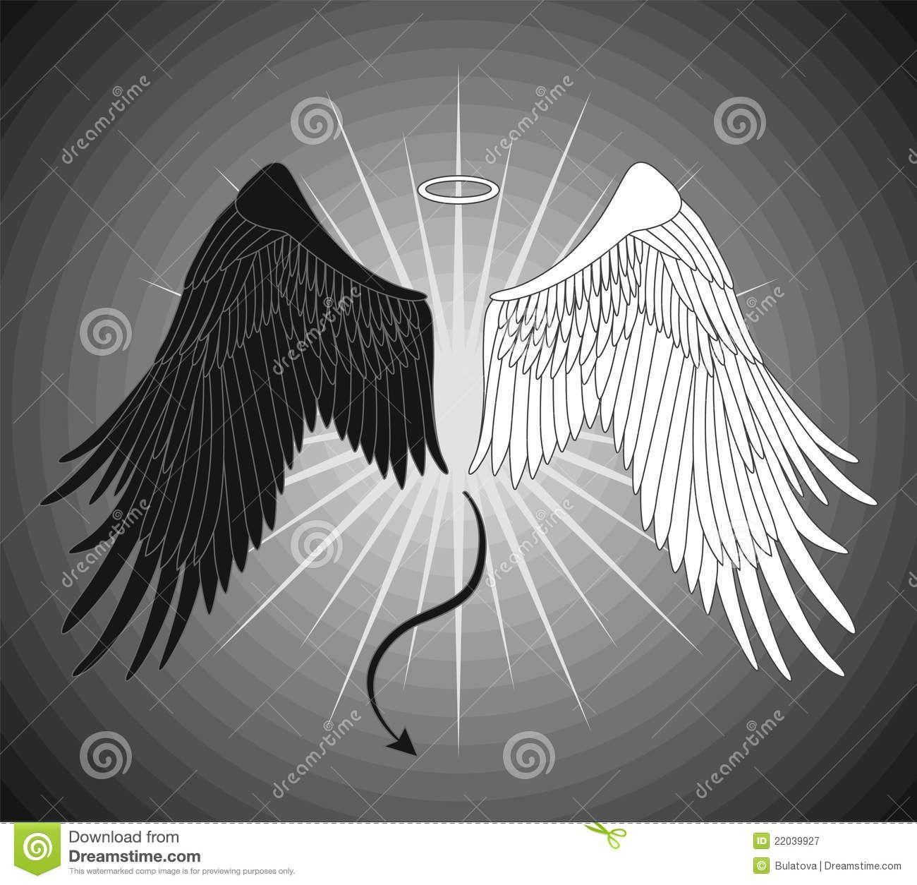 Half Angel Half Devil Tattoo Designs (21)