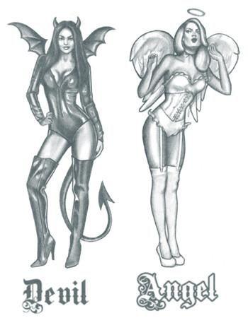 Half Angel Half Devil Tattoo Designs (212)