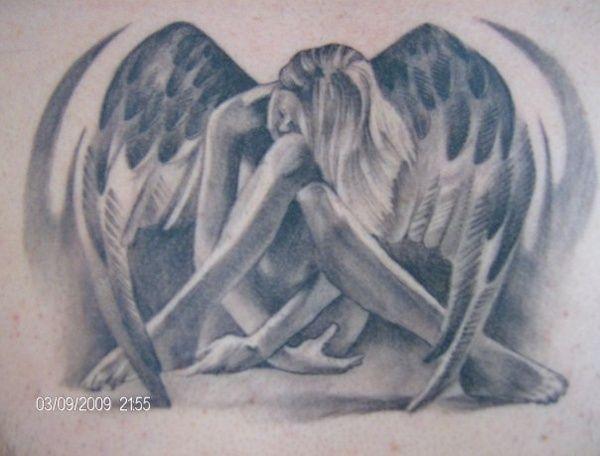 Half Angel Half Devil Tattoo Designs (213)