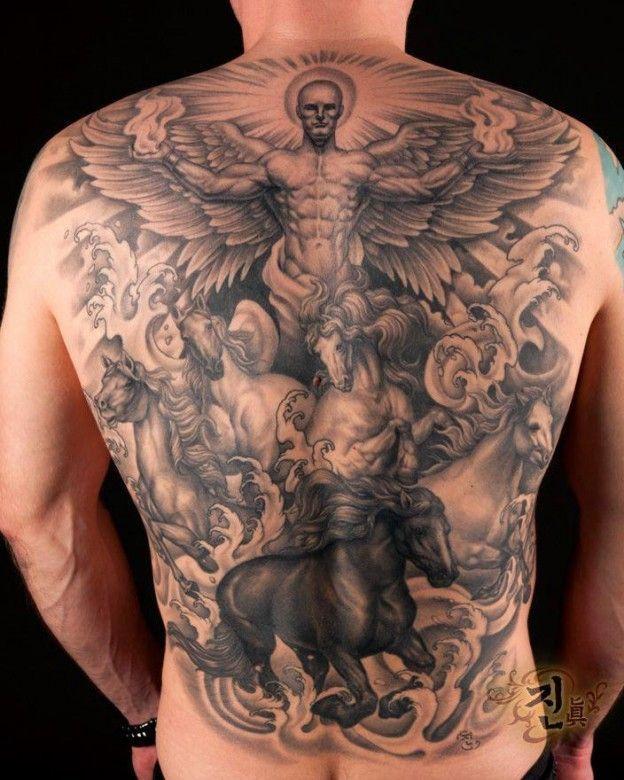 Half Angel Half Devil Tattoo Designs (216)