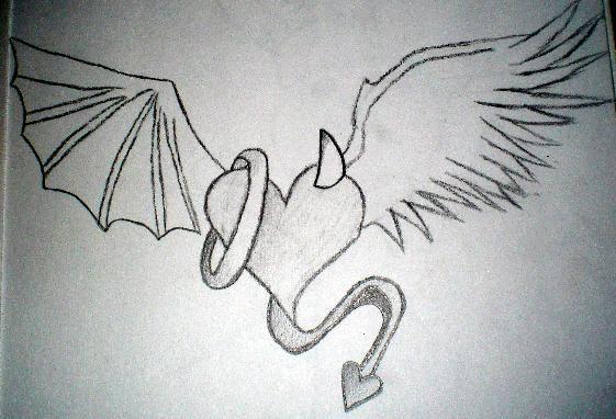 Half Angel Half Devil Tattoo Designs (217)