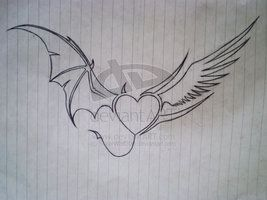 Half Angel Half Devil Tattoo Designs (218)