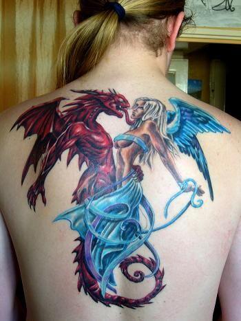 Half Angel Half Devil Tattoo Designs (22)