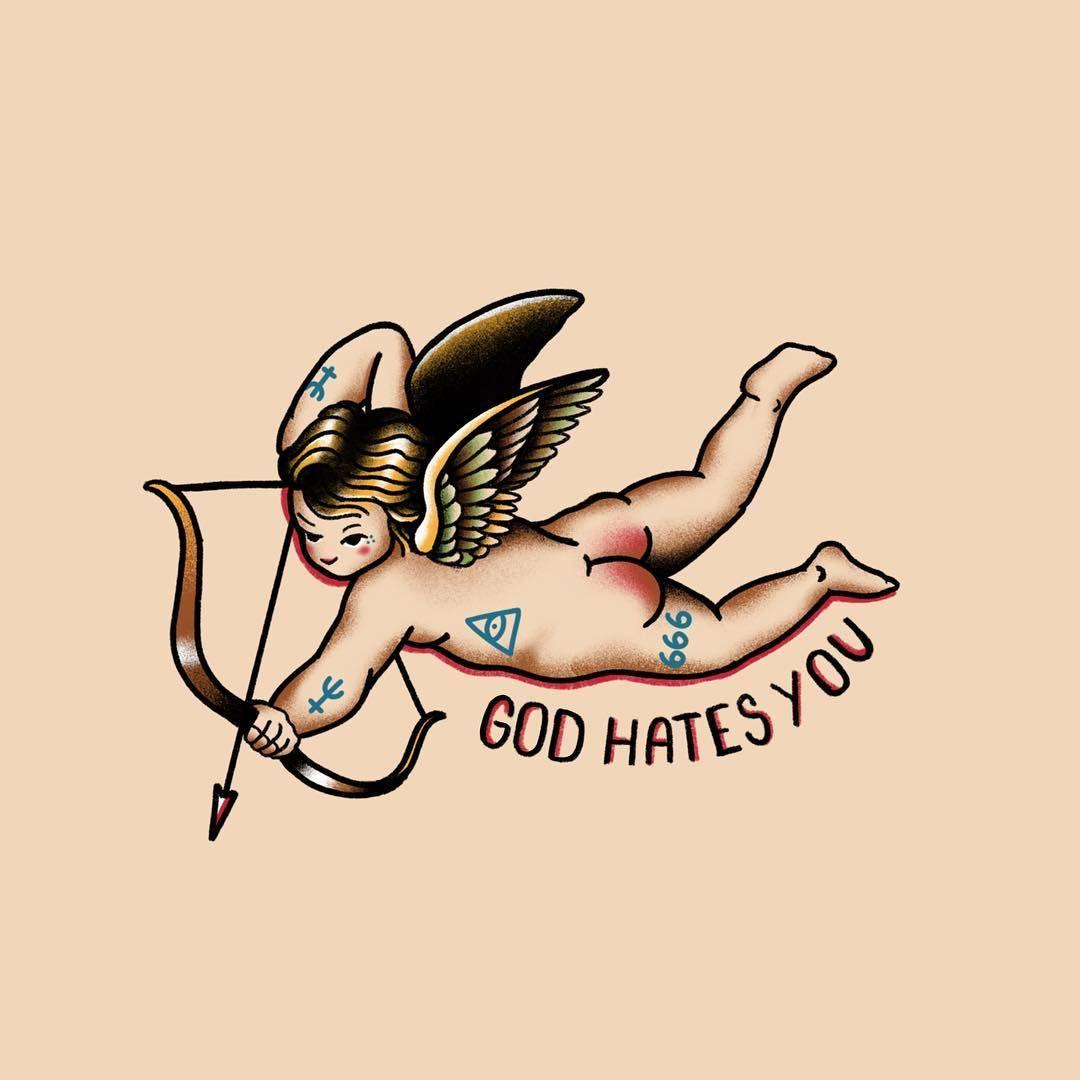 Half Angel Half Devil Tattoo Designs (220)
