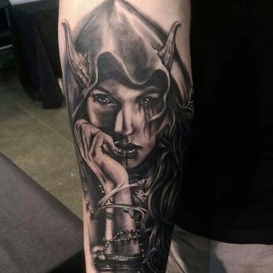 Half Angel Half Devil Tattoo Designs (221)