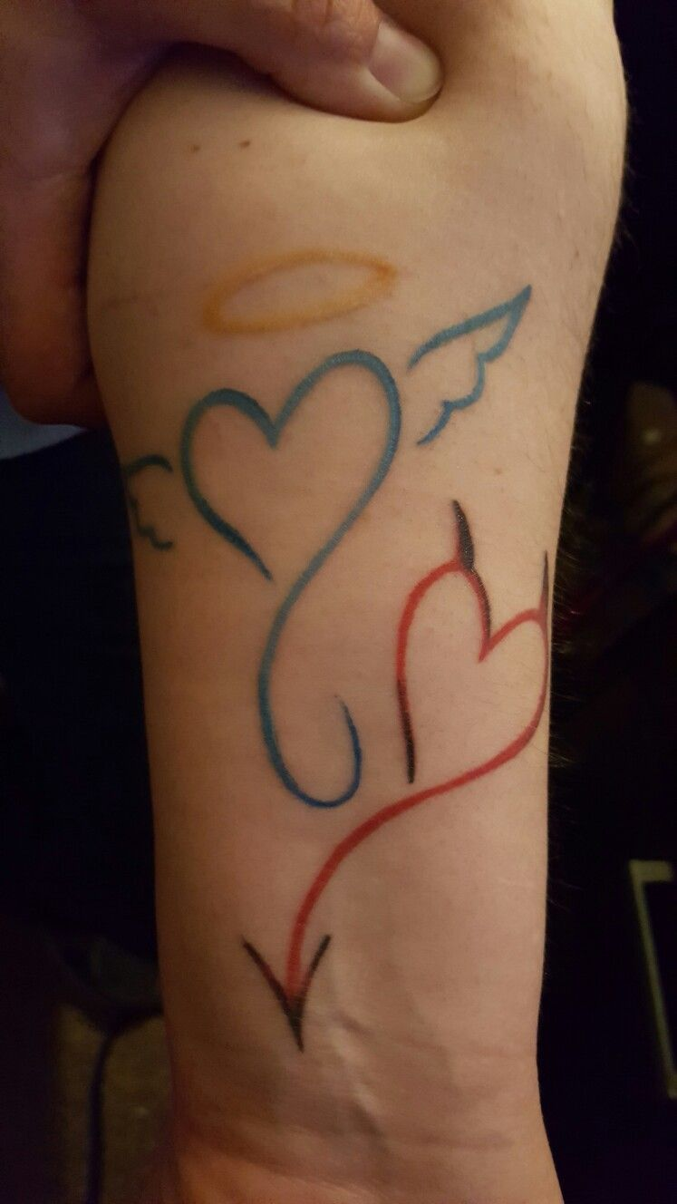 Half Angel Half Devil Tattoo Designs (224)