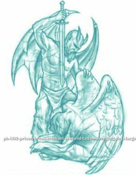 Half Angel Half Devil Tattoo Designs (226)