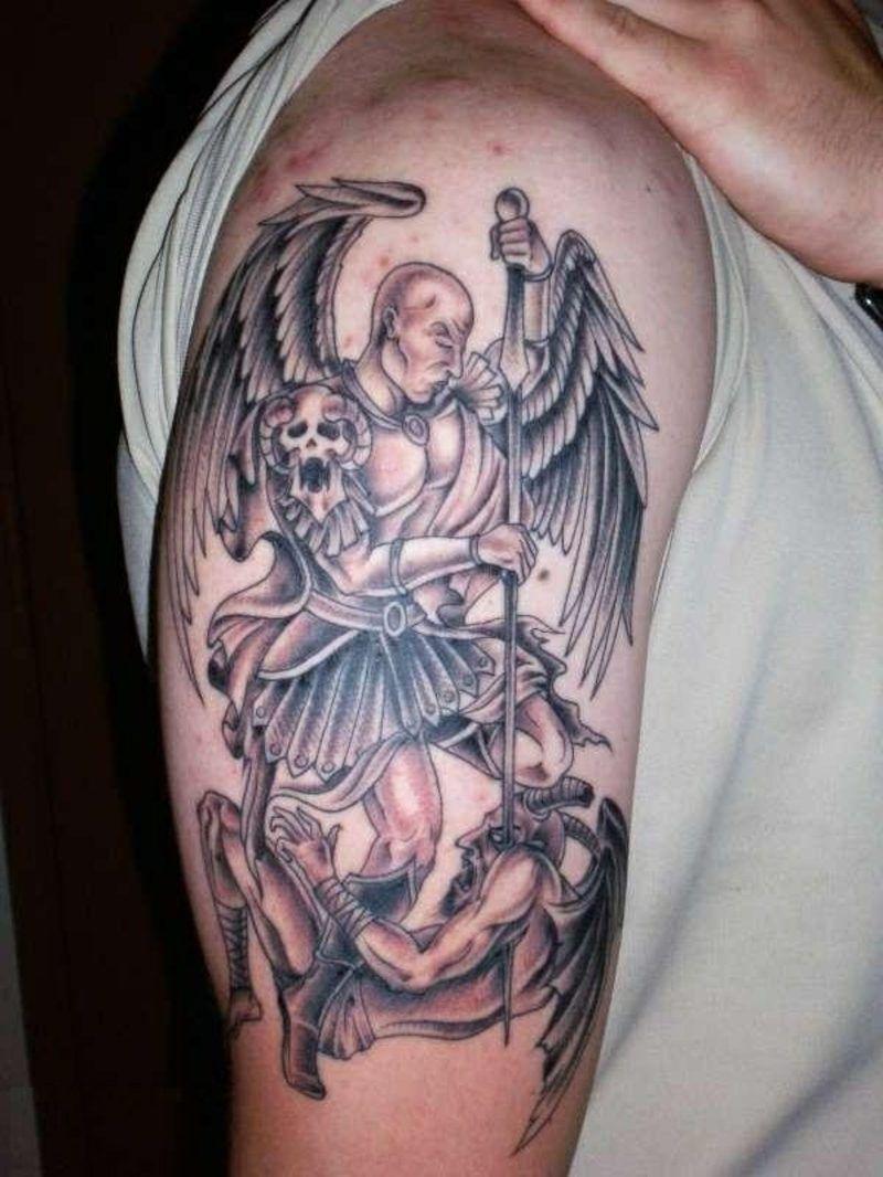 Half Angel Half Devil Tattoo Designs (227)