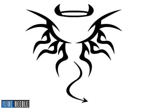 Half Angel Half Devil Tattoo Designs (23)