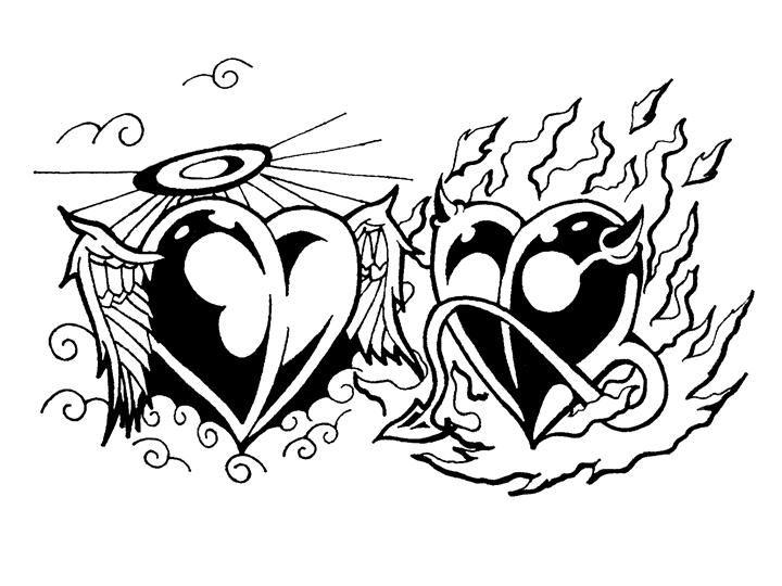 Half Angel Half Devil Tattoo Designs (231)