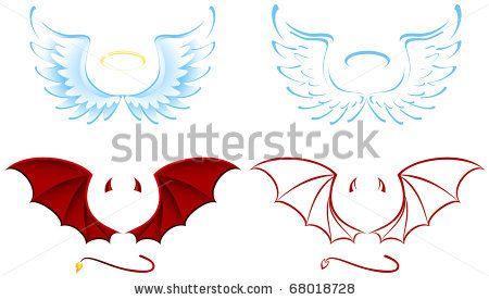 Half Angel Half Devil Tattoo Designs (236)