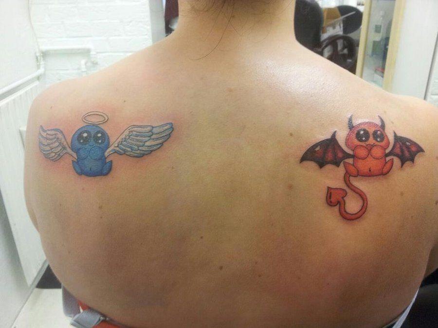 Half Angel Half Devil Tattoo Designs (239)