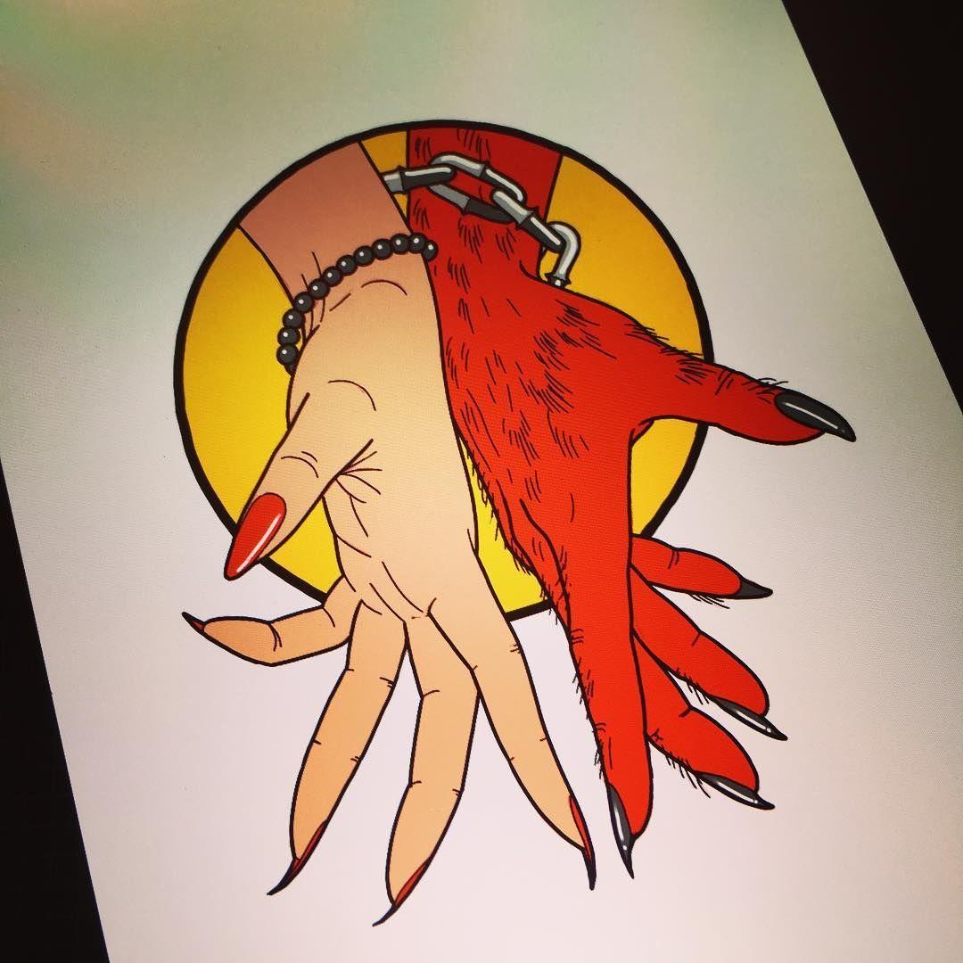 Half Angel Half Devil Tattoo Designs (241)