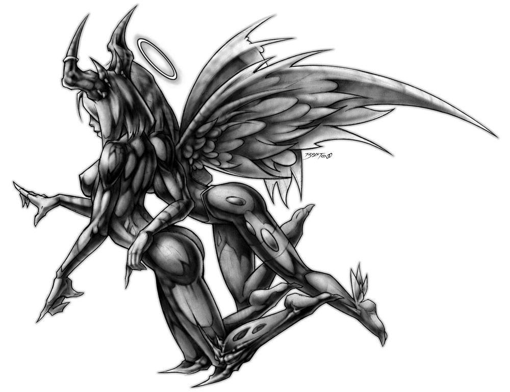 Half Angel Half Devil Tattoo Designs (242)