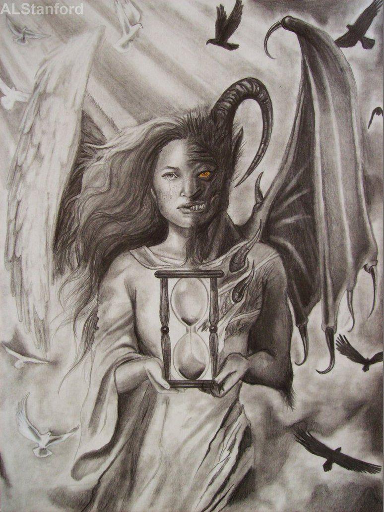 Half Angel Half Devil Tattoo Designs (244)