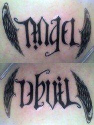 Half Angel Half Devil Tattoo Designs (246)