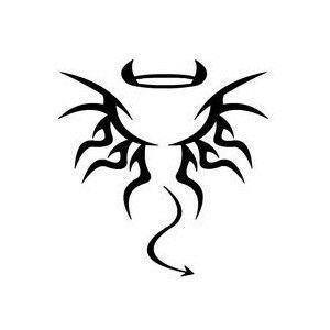 Half Angel Half Devil Tattoo Designs (26)