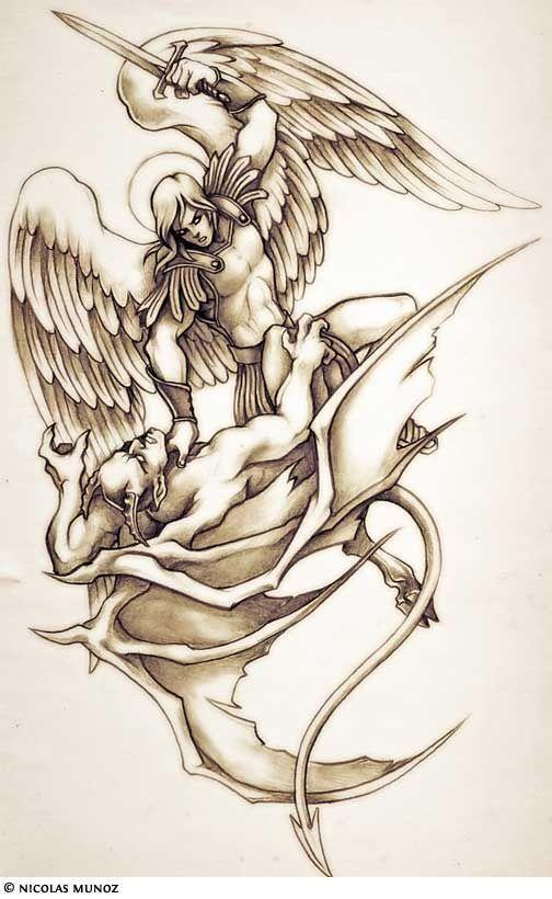 Half Angel Half Devil Tattoo Designs (27)