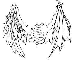 Half Angel Half Devil Tattoo Designs (29)
