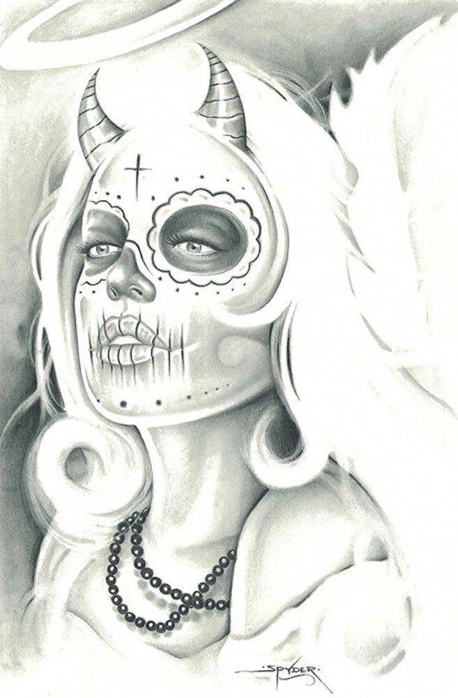 Half Angel Half Devil Tattoo Designs (3)