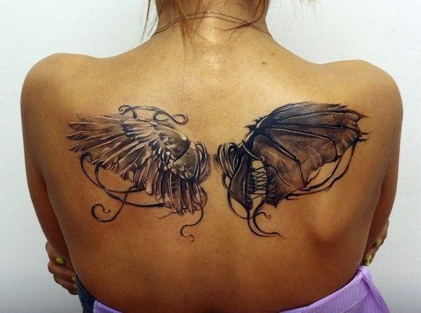 Half Angel Half Devil Tattoo Designs (41)