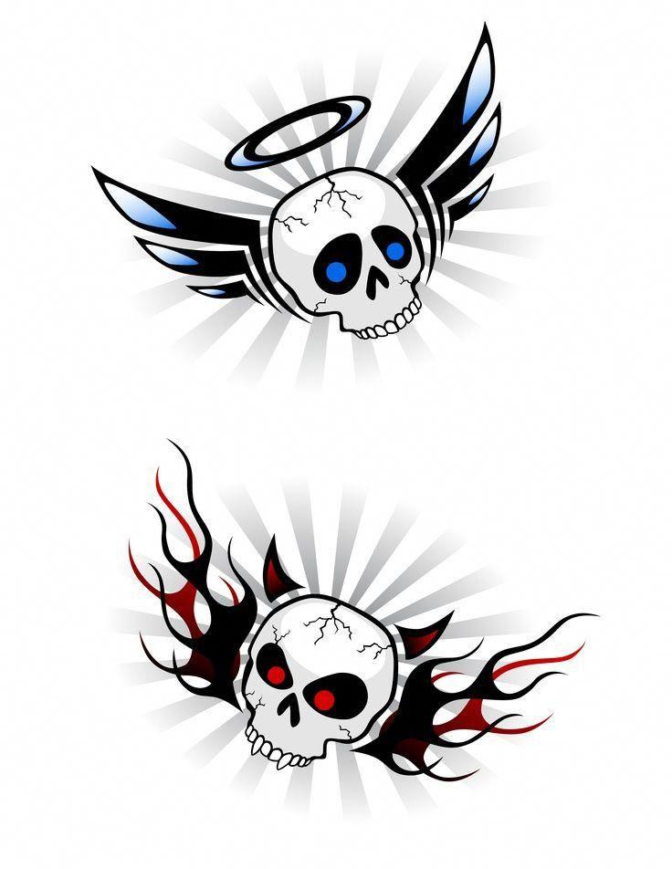 Half Angel Half Devil Tattoo Designs (43)