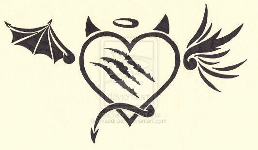 Half Angel Half Devil Tattoo Designs (5)