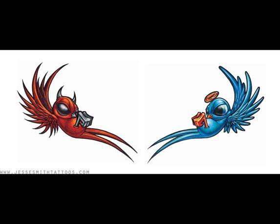 Half Angel Half Devil Tattoo Designs (59)