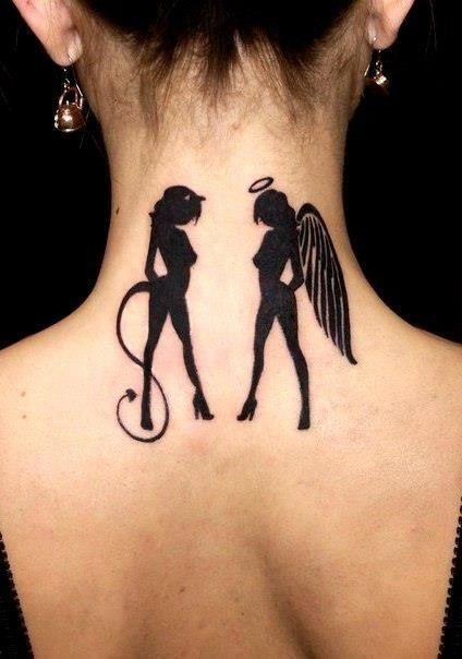 Half Angel Half Devil Tattoo Designs (61)