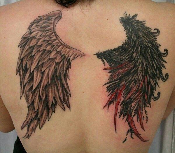 Half Angel Half Devil Tattoo Designs (63)