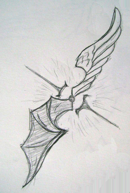 Half Angel Half Devil Tattoo Designs (64)