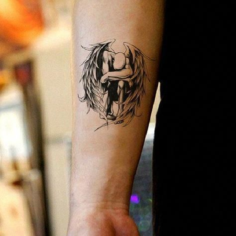 Half Angel Half Devil Tattoo Designs (68)