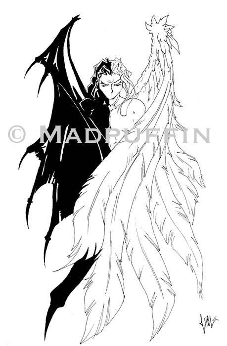 Half Angel Half Devil Tattoo Designs (7)