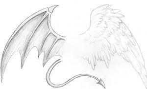 Half Angel Half Devil Tattoo Designs (9)