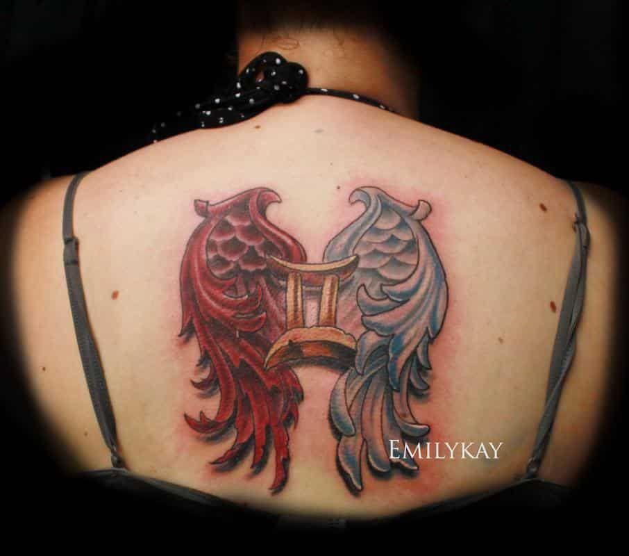 Half Angel Half Devil Tattoo Designs (90)