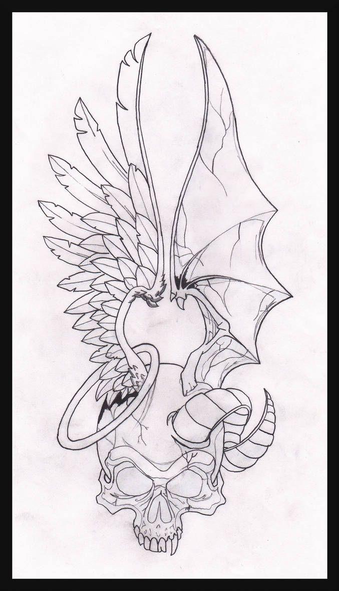 Half Angel Half Devil Tattoo Designs (93)
