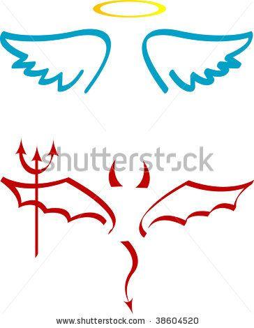 Half Angel Half Devil Tattoo Designs (97)