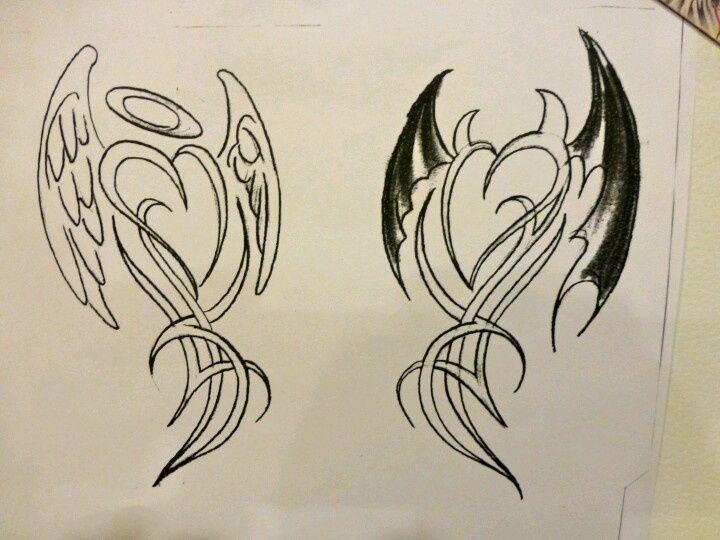 Half Angel Half Devil Tattoo Designs (99)