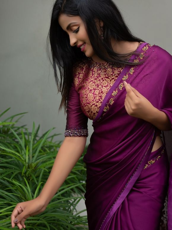 How To Wear The Saree Methods Blouse (204)