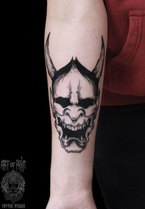 250+ Hannya Mask Tattoo Designs With Meaning (2020 ...