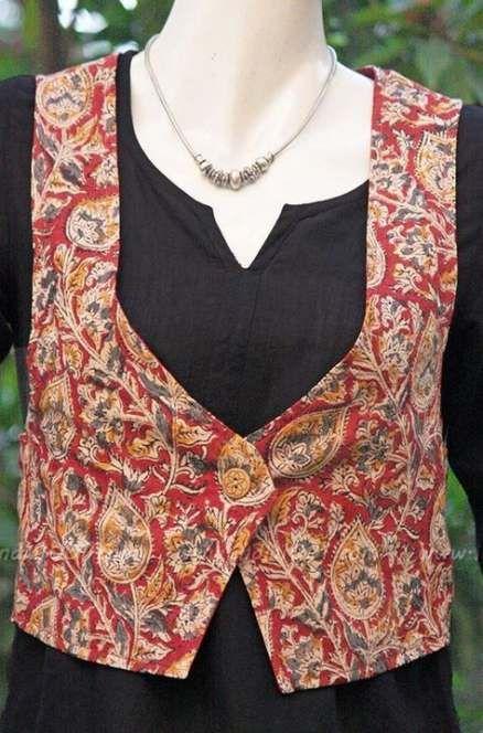Kalamkari Saree Work Blouse Designs (100)
