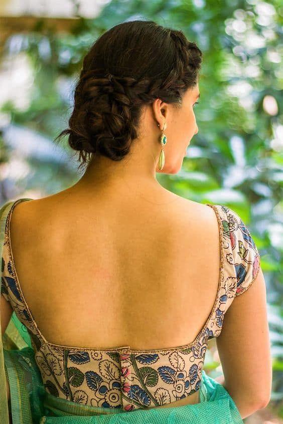 Kalamkari Saree Work Blouse Designs (101)