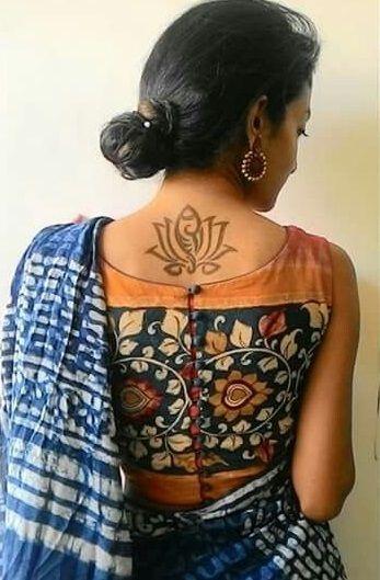 Kalamkari Saree Work Blouse Designs (102)