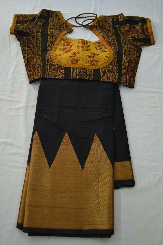Kalamkari Saree Work Blouse Designs (104)
