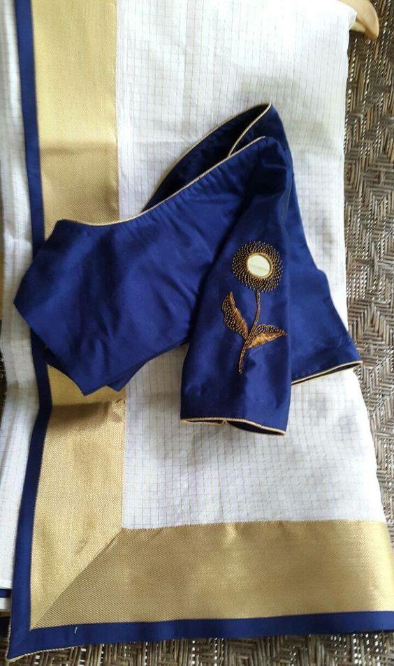 Kalamkari Saree Work Blouse Designs (105)