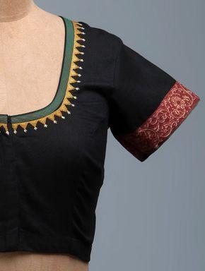 Kalamkari Saree Work Blouse Designs (109)