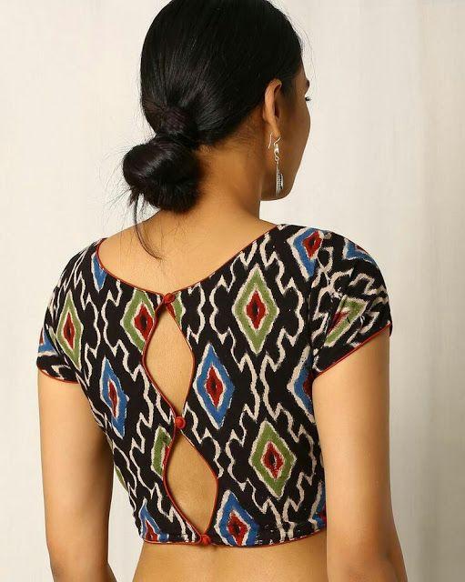 Kalamkari Saree Work Blouse Designs (11)