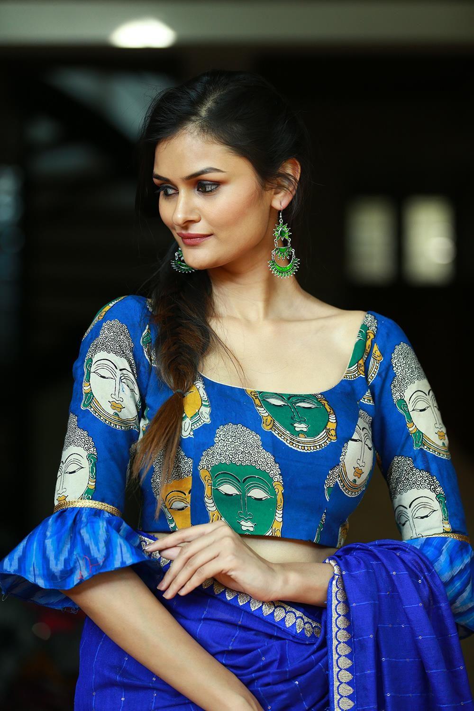 Kalamkari Saree Work Blouse Designs (112)
