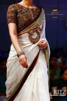 Kalamkari Saree Work Blouse Designs (114)