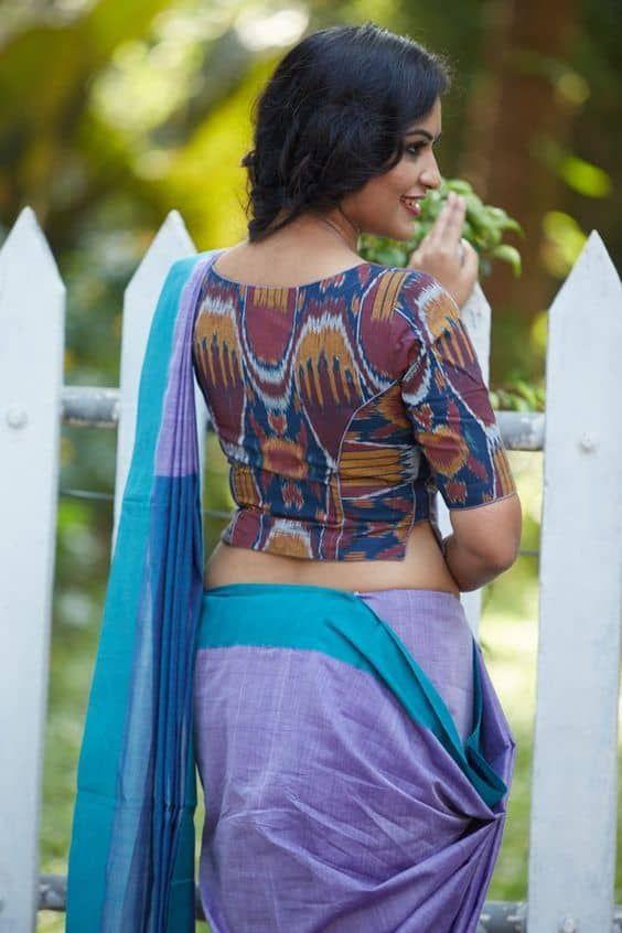 Kalamkari Saree Work Blouse Designs (117)